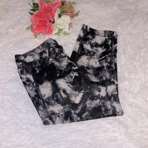 Under Armour black and white tie dye crop leggings